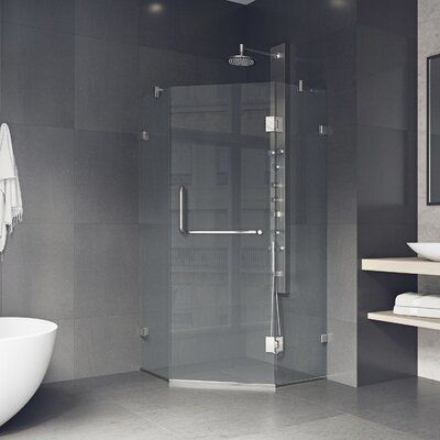 Piedmont 36 W X 78 75 H Neo Angle Hinged Shower Enclosure In 2020 Neo Angle Shower Neo Angle Shower Enclosures Shower Enclosure