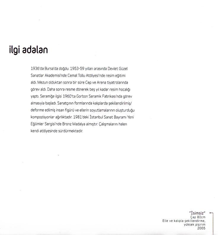"""İlgi Adalan """"ZAMANIN İZİNDE"""" Çağdaş Seramik Sergisi, 2012 (Erdinç Bakla archive)"""