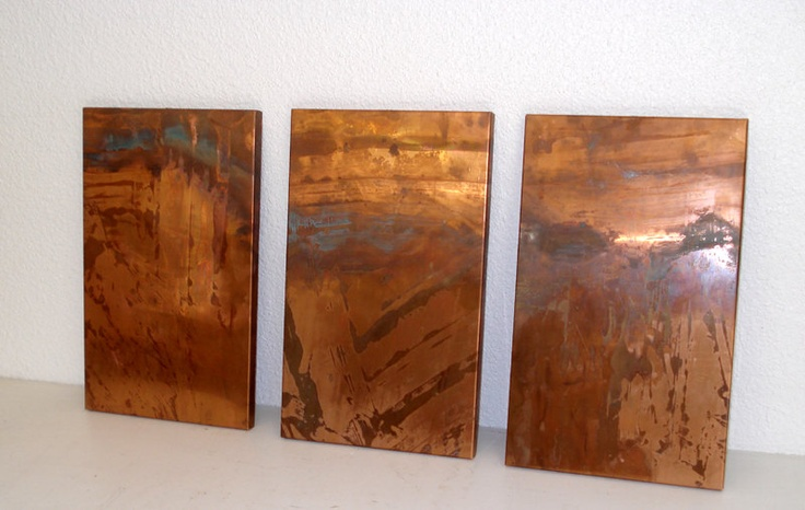 Recycled Copper 3 piece Wall Decor