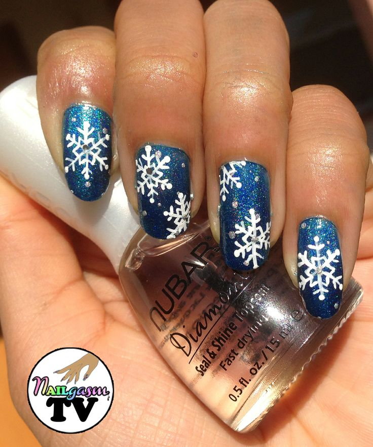 Snowflake Nail Art Tutorial: 25+ Best My Nails Images On Pinterest
