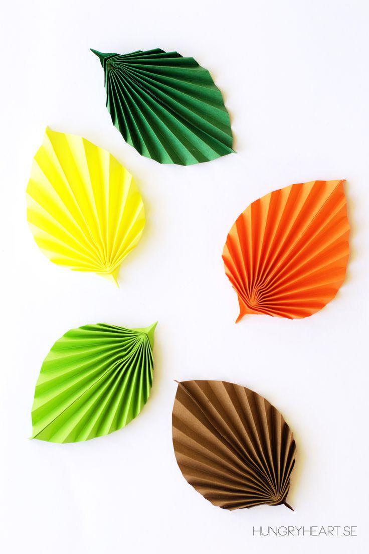 DIY: paper leaf
