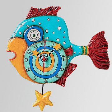 fresh idea whimsical clocks. A Unique Gift Idea from ArtCraftGifts  Allen designs new 2012 clock mr fishy 18 best French Country images on Pinterest french