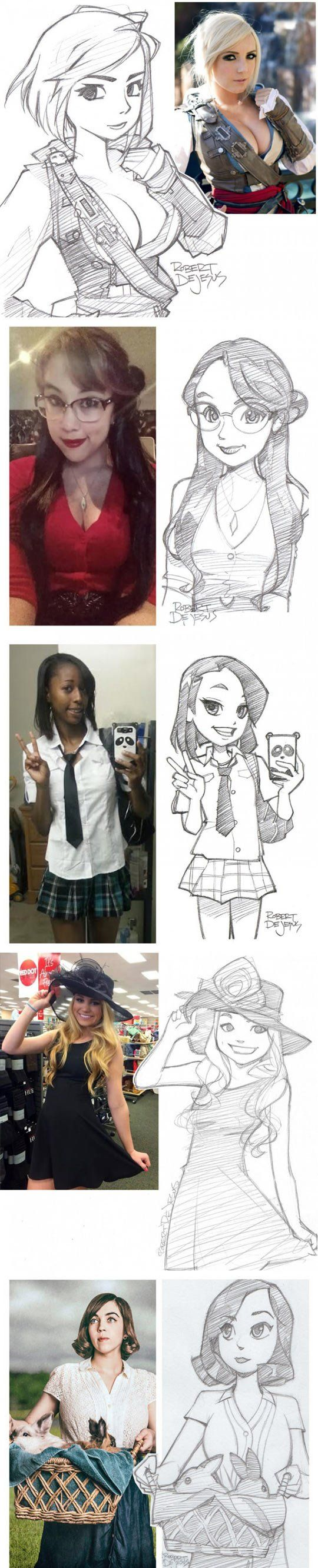 People And Their Cartoon Versions (1 of 2)