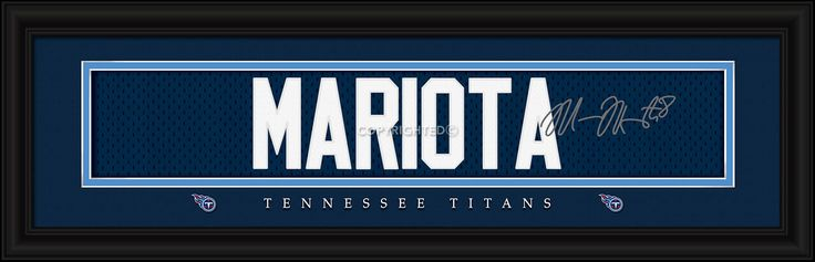 Marcus Mariota Tennessee Titans Player Signature Stitched Jersey Framed Print