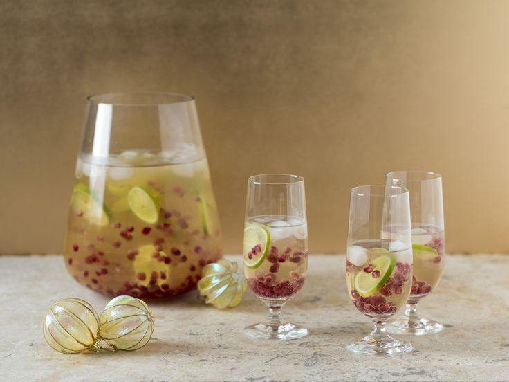 Coconut lime pomegranate cocktail | Thermomix Festive Flavour cookbook and recipe chip
