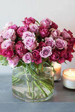 Vakre roser i adventspalett.