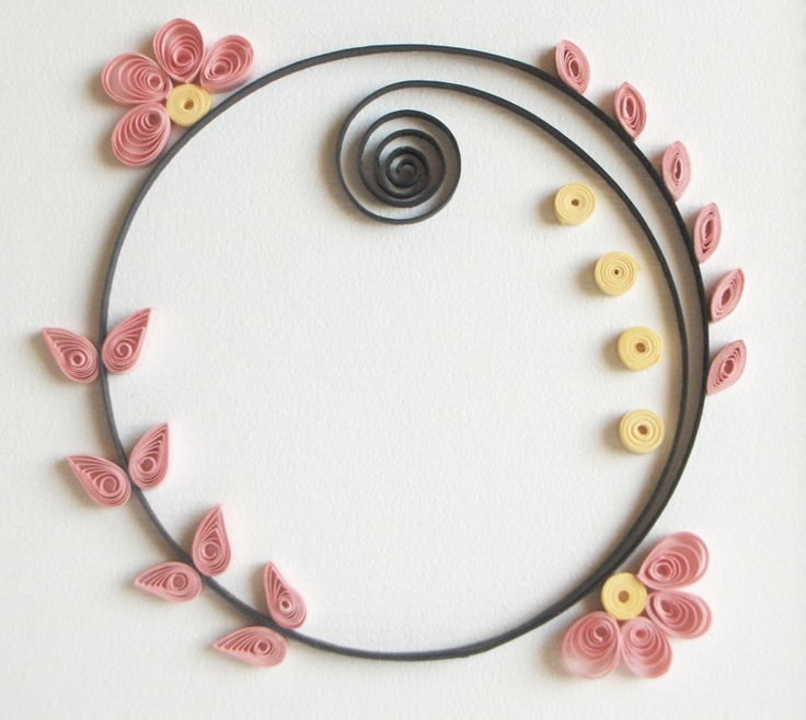 56 best images about quilling frames borders on pinterest for Simple paper quilling designs