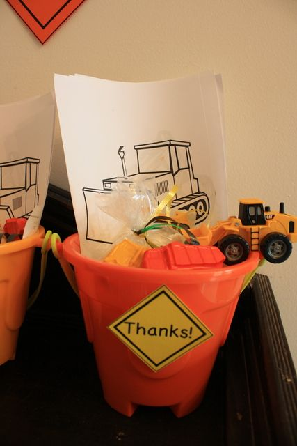 Construction Truck Party Favors #construction #partyfavors