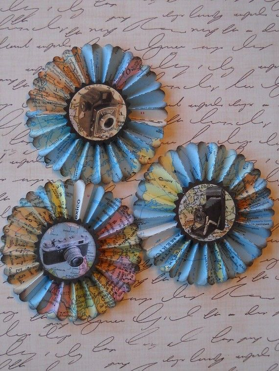 map rosettes - on my must make list!