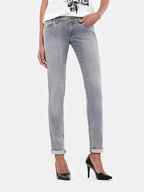 Grijze skinny jeans middengrijs - The Sting