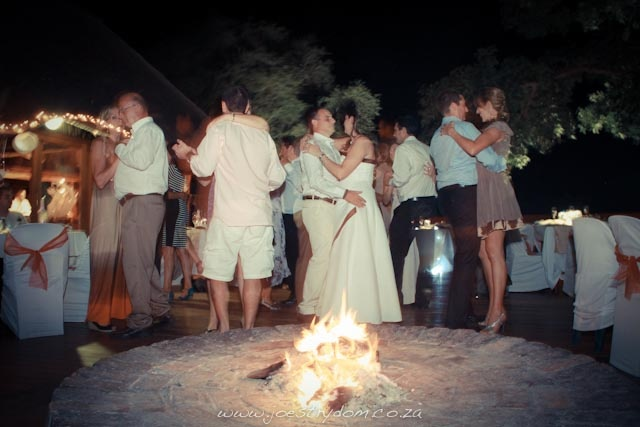 Dancing by the fire ...