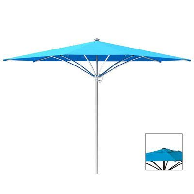 Tropitone Trace 10' Market Umbrella Fabric: Sparkling Water, Frame Finish: Parchment