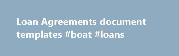 Loan Agreements document templates #boat #loans    france - loan templates