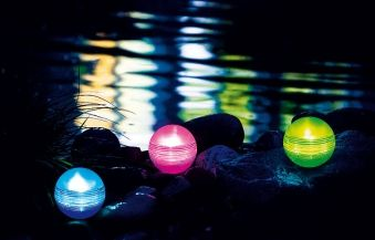 Heissner Solar Lichtkugel Set Farbwechsel 3-teilig