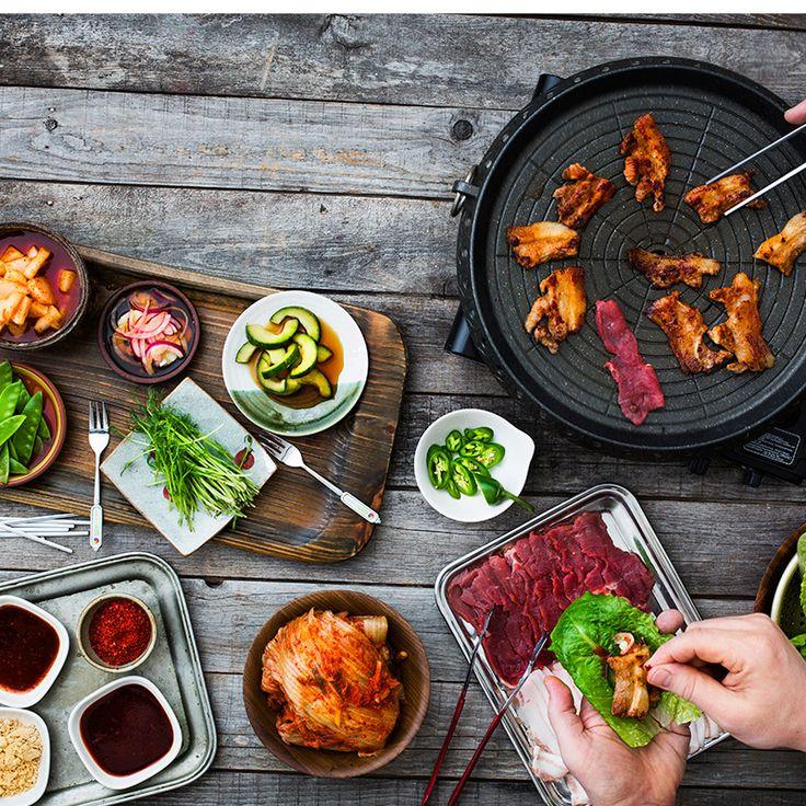 Koreansk grill med smakrika tillbehör