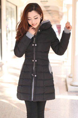 Amazon.co.jp: ダウンコート ロングコート ダウンジャケット レディース 防寒服 防寒着 婦人用 女 中綿 フード スリム ファッション 大きサイズ 3サイズ 4カラー: 服&ファッション小物