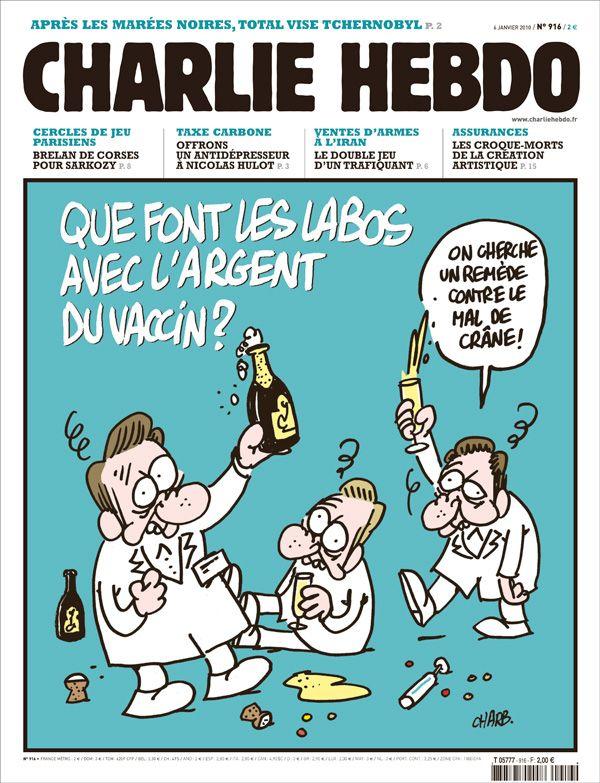 Charlie Hebdo - # 916 - 6 Janvier 2010 - Couverture : Charb
