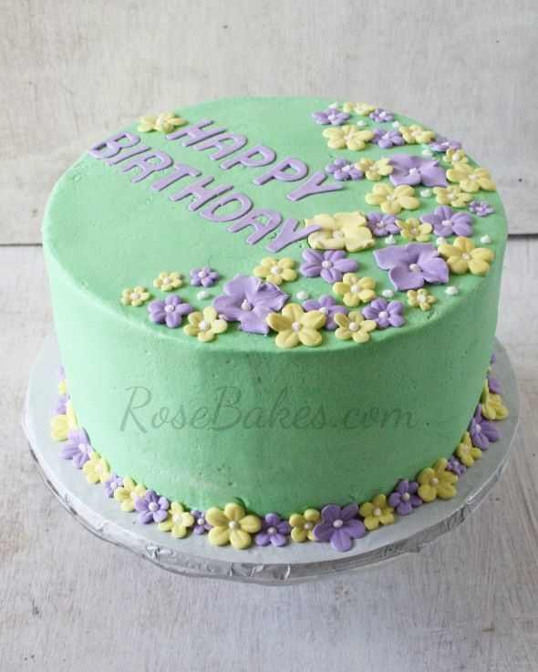 Birthday Wishes Flower Cake Pastel: 89 Best Images About Birthday Cakes On Pinterest