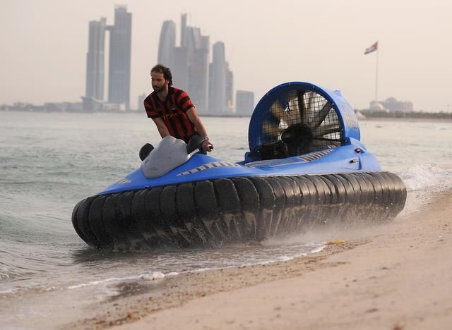 http://www.hovercraft.org/hovercraft-superyacht-tender/ So imagine the problem, you have amassed a fortune, ordered and taken delivery of your SuperYacht, but your captain tells you that you cannot get ashore to visit the casino due to low tide.