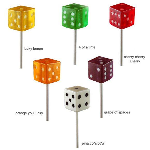 Dice Lollipops -24 pieces per pack - Las Vegas Wedding Favors - Themed Wedding Favors - Destination Wedding Favors