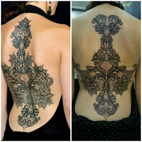 Lace back pieces #tattoos
