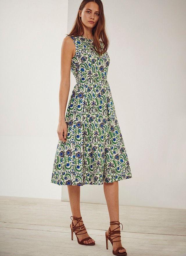 Vestido midi de flores - Vestidos | Adolfo Dominguez shop online