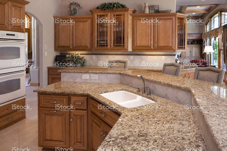 granite countertops for oak kitchen cabinets custom luxury eat in kitchen with granite counters oak 15984