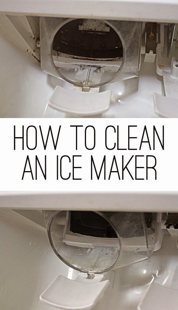 How to clean an ice maker and water dispenser on a refrigerator