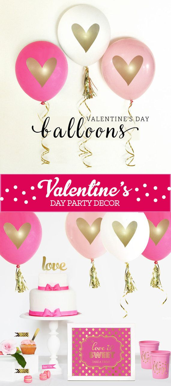 Valentines Day Balloons Valentines Day Decor Valentine by ModParty