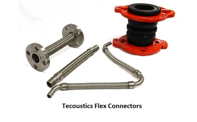 Tecoustics Rubber or Neoprene Expansion Joints are for thermal expansion, misalignment, system protection and decoupling noise & vibration.#noiseandvibrationcontrol