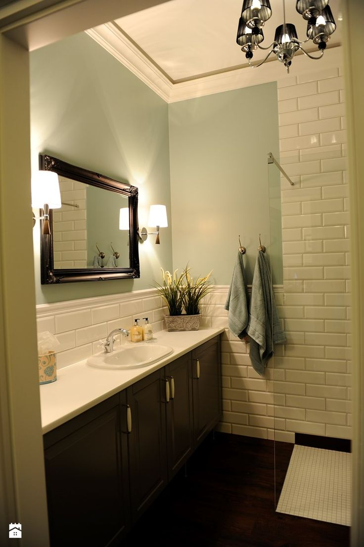 Apartament Novum - Mała łazienka w bloku bez okna, styl klasyczny - zdjęcie od AgiDesign