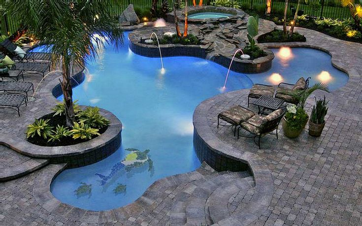 416 best images about my pools on pinterest pool houses for Pool design options