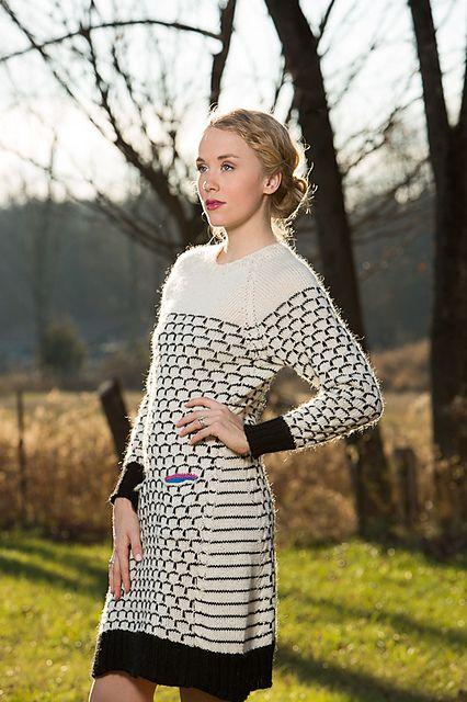 Woodstock Dress by Heather Dixon, knit in Berroco Lustra