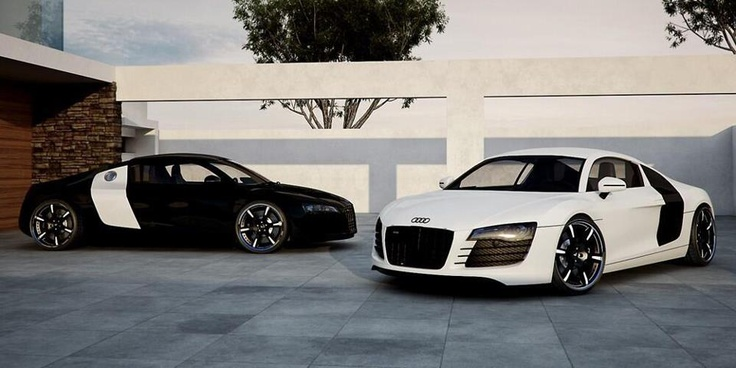 audi r8 black and white my future cars. Black Bedroom Furniture Sets. Home Design Ideas