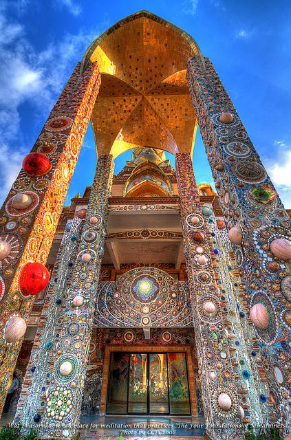 Magnificence of Wat Phasornkaew, Thailand