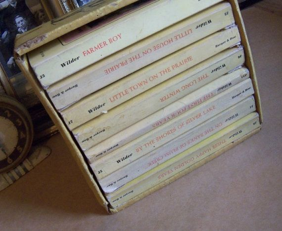 Little House on the Prairie by Laura Ingalls Wilder, book set. I loved these as a kid!