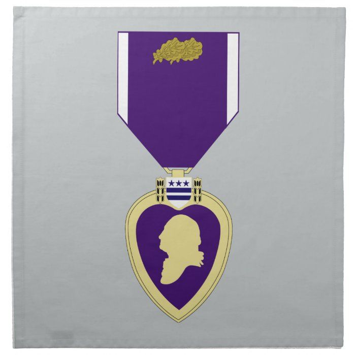 Purple Heart Medal 3rd Award Napkin Purple Heart Medal Purple Heart Day Purple Heart