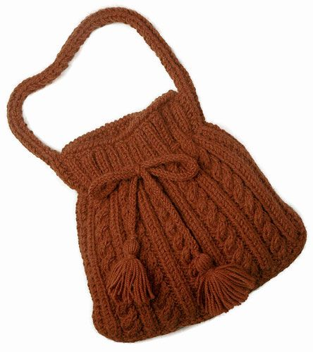 Knitting Pattern Cable Bag : 1000+ images about Knitting Bags, Purses & Clutches on ...