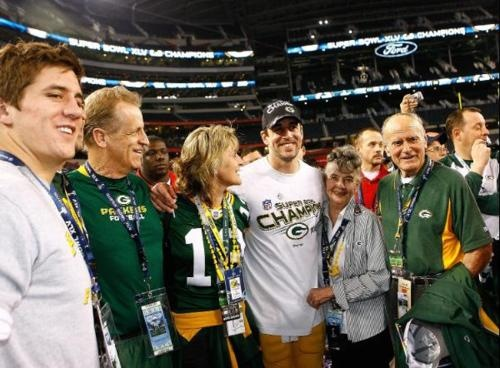 The Rodgers family...and there are his grandparents he calls before each game  -H