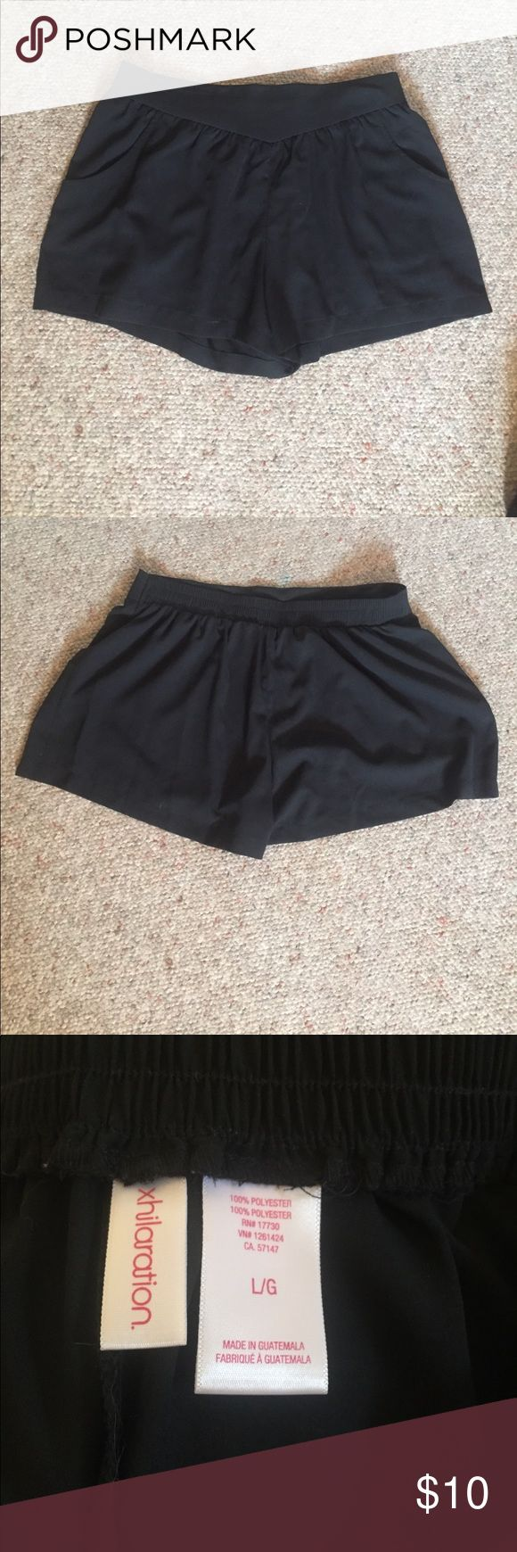 Black loose shorts These black shorts have a comfy waistband and pockets! Nice to wear in the summer with something a little more dressy! Never worn! The tags were accidentally ripped off Xhilaration Shorts