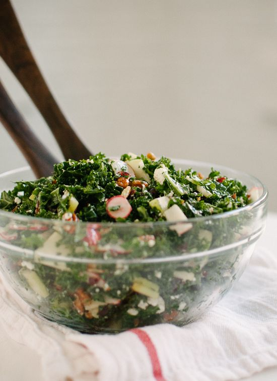 Kale Salad with Apple, Cranberries, and Pecans