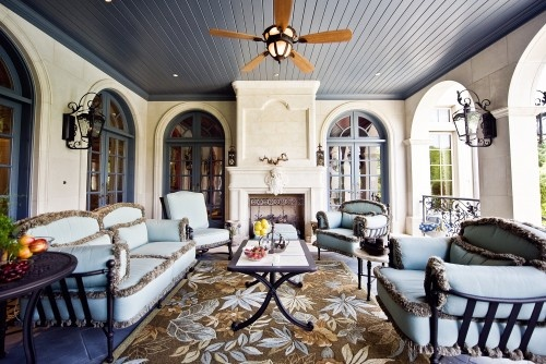 Houzz - Home Design, Decorating and Remodeling Ideas and Inspiration, Kitchen and Bathroom Design: Blue Ceiling, Ideas, Outdoor Rooms, Outdoor Living, Dallas, Outdoor Patio, Traditional Porches, Formal French, Fusch Architects