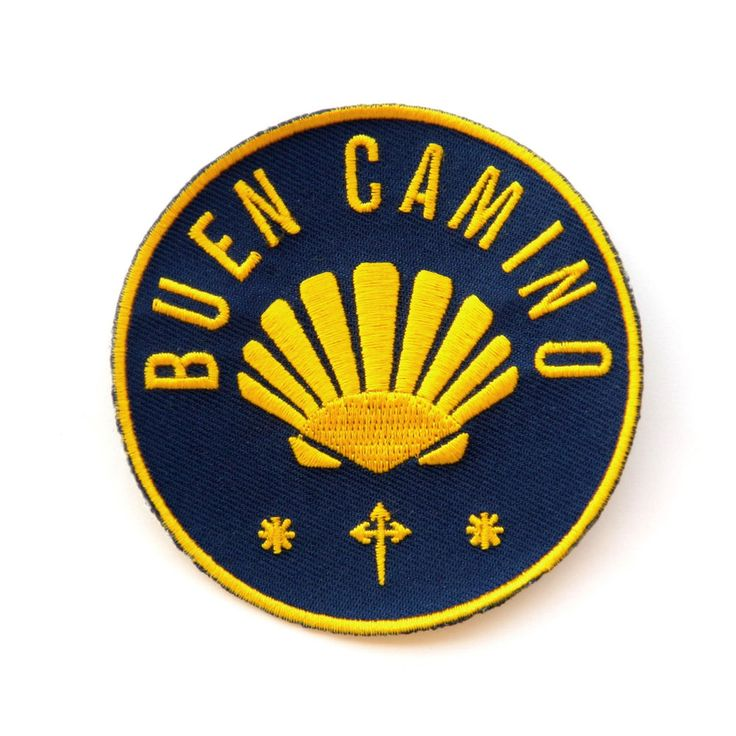 Camino de Santiago Way of St. James Scallop Shell Road Pilgrim Cloth Patch New Patch.  **