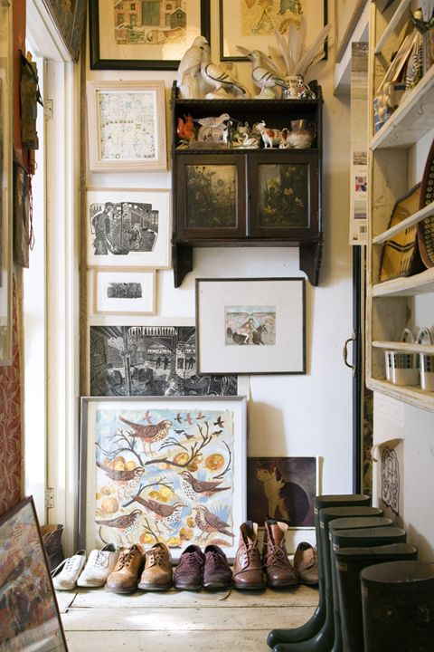 DECOR ; INTERIORS ; ART ; ROOMS ; Mark Hearld's studio published in World of Interiors