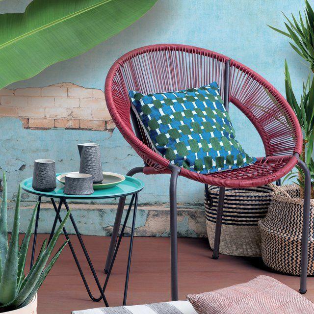 Salon de jardin plastique bleu des id es int ressantes pour l - Table pliante monoprix ...