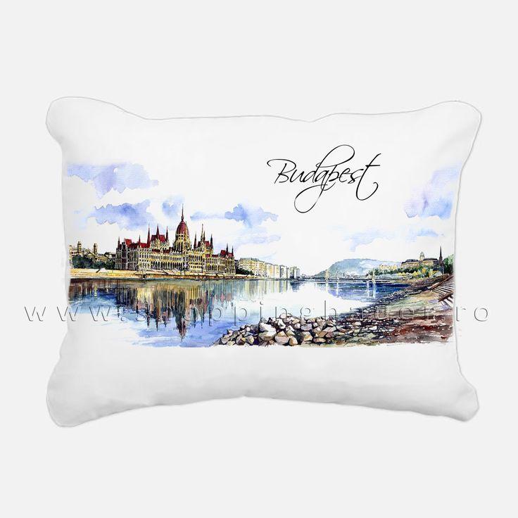 Budapest decorative pillow  . Pernuta decorativa Budapesta pentru cei care iubesc orasul