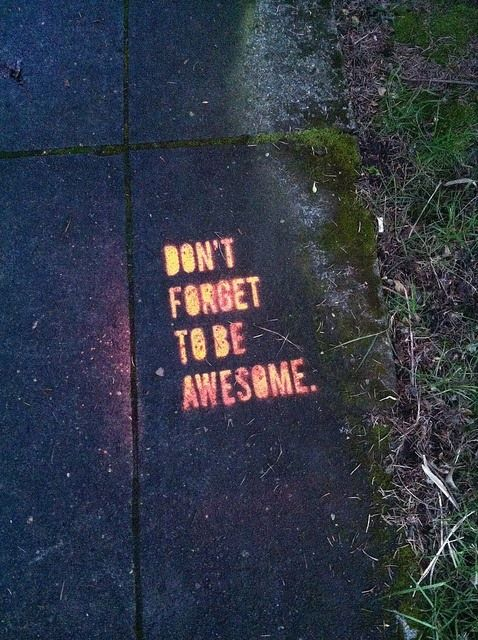 spray paint glow in the dark paint on the sidewalk to leave fun messages