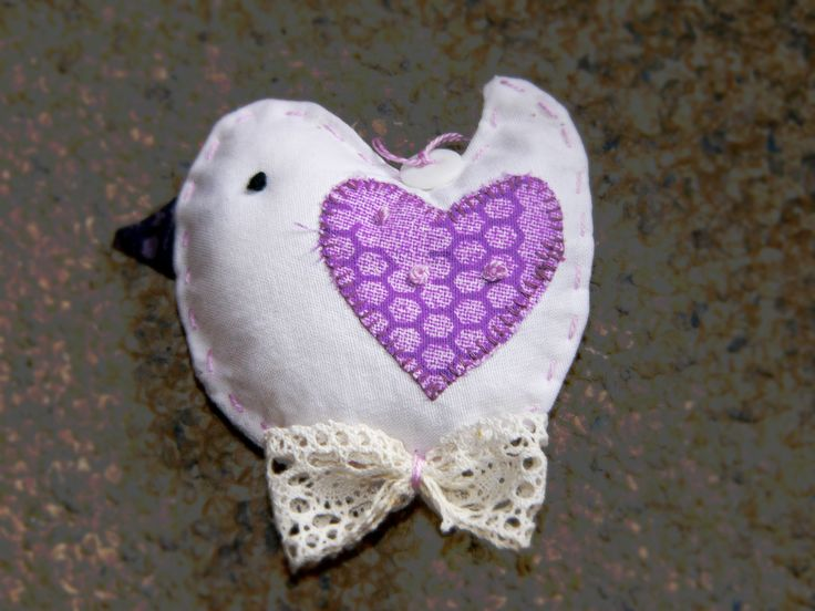 bird, sewing, lavender