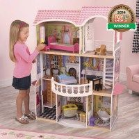 Винтажный кукольный дом для Барби Магнолия Magnolia с мебелью 13 предметов