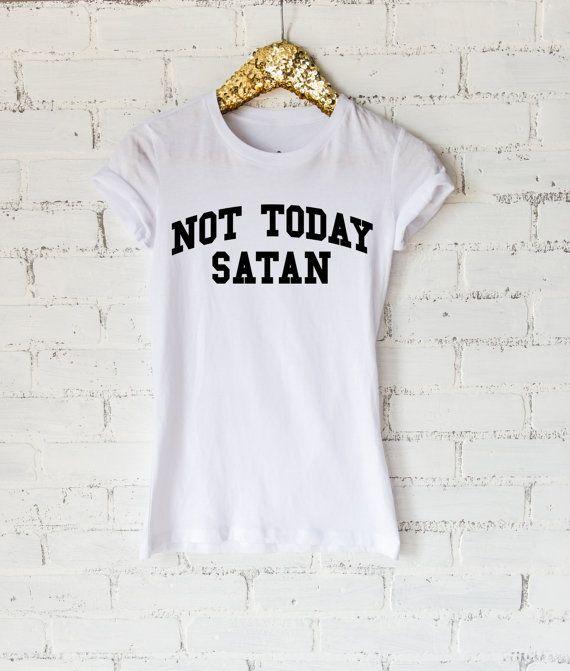 Not Today Satan Ladies Tee or Raglan - Womens Shirt - Y'all Need Jesus…
